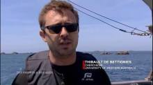 Thibaut talking kelps on 'des racines et des ailes'