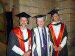 Scott and Thomas with Prof Paul Johnson, Vice-Chancellor for UWA
