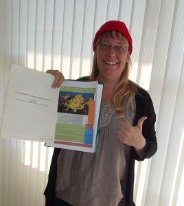 Maj-Britt with her final report